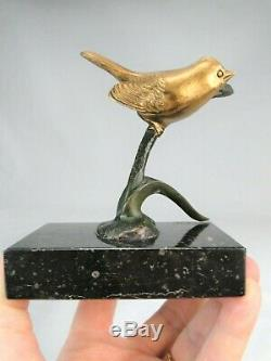 Irenee Rochard (1906-1984) Belle Sculpture Oiseau Art Deco Bronze A 2 Patines