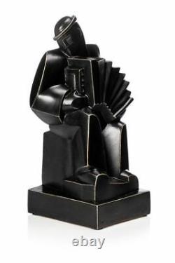 Jan et Joël MARTEL- accordéoniste, sculpture en terre cuite, signée, Art Déco