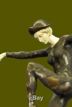 Jeune Fille Danseuse Fait à la Main Chiparus Art Déco Bronze Sculpture Statue