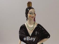La Belle Andalouse, Catherine BARJANSKY 1890/1965, Sculpture Art Déco en Faïence