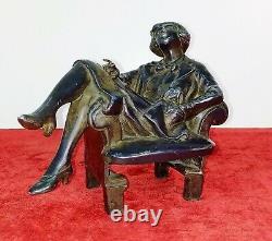 La Garçonne. Sculpture. Métal Fini En Bronze. France. Art Déco. Circa 1920