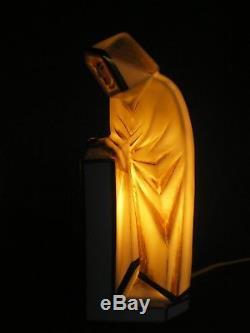 Lampe veilleuse art deco ELTE lamp vintage statue sculpture orientale figurine