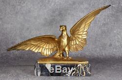 Léon HATOT Aigle Eagle Style 1930 Art Deco Sculpture en bronze doré