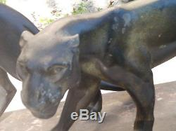 M Font Statue Sculpture Art Deco 1920 Duo Panthere