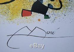 MIRO Joan Sculpture II LITHOGRAPHIE numérotée et signée #500ex