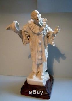 MOUGIN NANCY et AUGUSTE CARLI Sculpture en grès PIERROT Art deco nouveau 1920