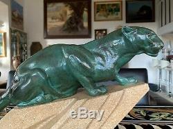 Max Le Verrier & Meriadec Sculpture d'époque Art Déco Les Félins