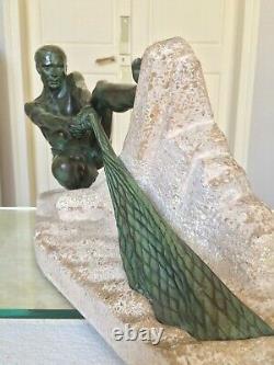 Max Le Verrier Sculpture Époque Art Déco Décoration Moderne Style 1930