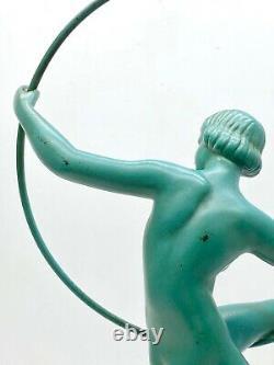 Max le Verrier Danseuse nue signée Briand pour Marcel Bouraine ART DECO 1930