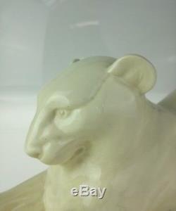 Panthère Art Déco Faïence Sarreguemines sculpture 1930