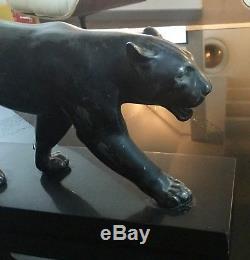 Panthère Max Le Verrier Art Deco Sculpture Felin