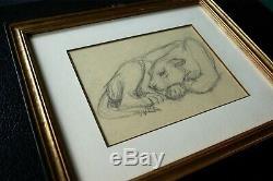 Paul JOUVE dessin animalier panthère ART DECO sculpture drawing wildcat PARIS