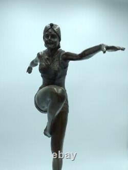 Paul Philippe Danseuse du Feu Bronze de Style Art Déco Chiparus Barbedienne
