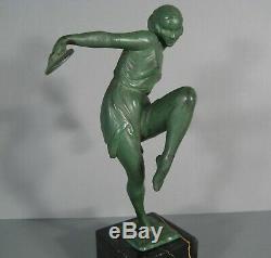 Pierre Le Faguays Fayral Danseuse Aux Cymbales Sculpture Style Art Déco