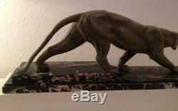 Rare Et Superbe Sculpture Epoque Art Deco 1930 Panthere Marchant