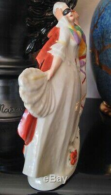 Rare Superbe Sculpture Art deco Carnaval de Venise signée Léon LEYRITZ