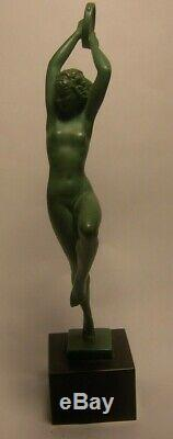 Raymonde Guerbe Esmeralda Statuette Art Déco régule