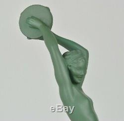 Raymonde Guerbe, Esmeralda, sculpture signée, Art déco, XXème siècle