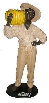 Resine sculpture Personnage Statue de DÉCORATION Artisanal Porte Pot 120cm