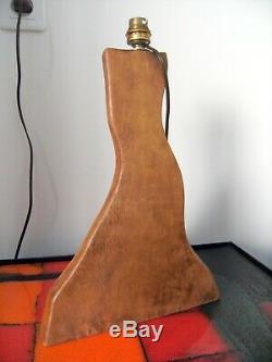Richard LECOMPTE Lampe sculpture bois modernisme vintage art déco Style NOLL