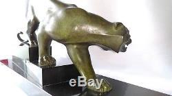 SCULPTURE BRONZE TIGRE signée GEORGE LAVROFF (1895-1991) époque ART DÉCO