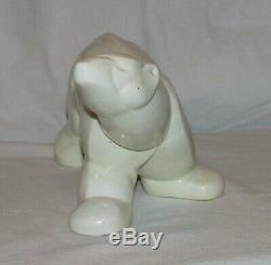 STATUE OURS LEMANCEAU ART DECO 1930 Saint clement / bear french sculpture