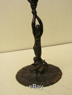 Sculpture Art Deco Art Nouveau Pot Pourri Brule Parfum Sirene Fer Forge Brisotto