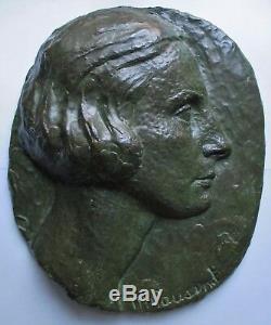 Sculpture Bas relief Bronze Marguerite Cousinet 1930 Art Déco ERA Maillol Statue