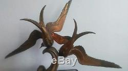 Sculpture Bronze. Couple De Mouettes Periode XX Eme Art Deco Signee Rochard
