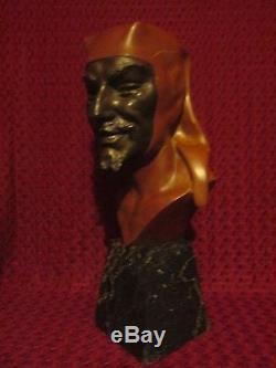 Sculpture Chryselephantine Marbre Bronze Mephistopheles Devil Figur Diable Satan