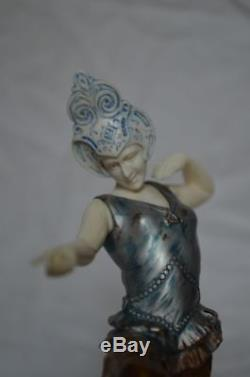 Sculpture Chryselephantine art deco Richard W Lange RuM fondeur