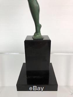 Sculpture D'époque Art Déco (1920-1930) La Danseuse De 35,5 CM De Haut