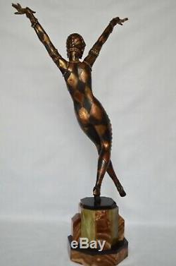 Sculpture Danseuse art deco par Moljine