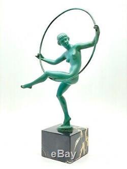 Sculpture Danseuse nue signée Briand pour Marcel Bouraine époque ART DECO 1930