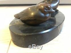 Sculpture Femme Nue Erotique Années Folles Ancien Rare Animal Oiseau Art Déco