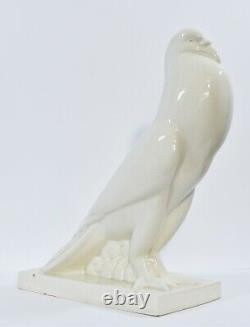 Sculpture Primavera craquelé faisan art deco france céramique