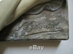 Sculpture Statue A. Godard édition Kaza céramique polychrome Art Déco 1930