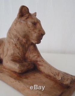 Sculpture / Statue / Epoque Art Deco / Signee / Panthere / Lionne
