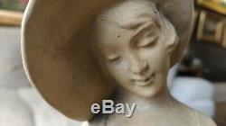 Sculpture Terre Cuite Signe Italienne Elegante Levrier 1930 Art Deco