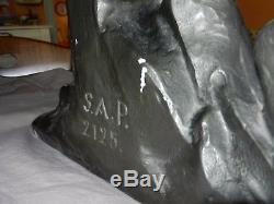 Sculpture Ugo CIPRIANI en plâtre signé-Art déco