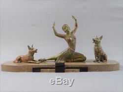 Sculpture art Déco danseuse ballet Russe signé H. Molins Russian ballet dancer