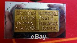 Sculpture art deco Crociera aerea del decennale Roma-Chicago-New York-Roma
