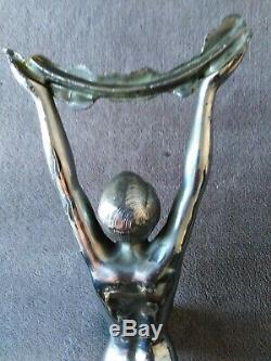 Sculpture art-déco nu féminin femme art-déco sculpture Limousin 1930