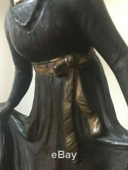 Sculpture bronze signé ALONZO La Révérence