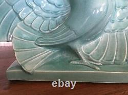 Sculpture céramique craquelée Art Déco signée LE JAN année 1920/1930