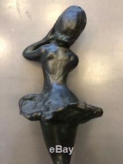 Sculpture danseuse bronze S. Zelikson Art Deco