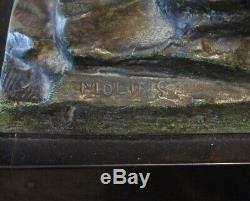 Sculpture en bronze Signée MOLINS époque art déco