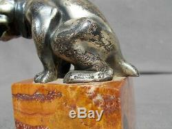 Sculpture en bronze art deco Bonzo dog CORMIER GUILLEMARD RC. IRELAND figurine