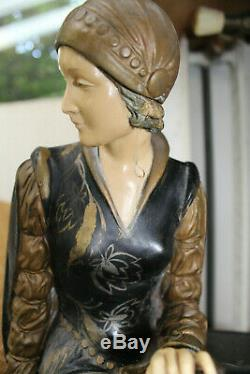 Sculpture femme Chryséléphantine Art Deco