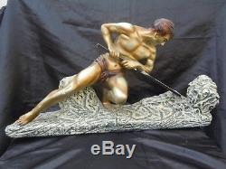 Sculpture homme athlétique par Adolpho Cipriani d'époque Art Déco